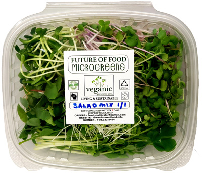 microgreen salad mix with lid closed