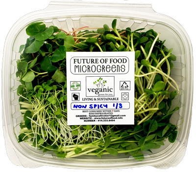 microgreen non spicy mix with lid closed